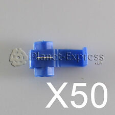 50 x Connettori cavo Rapidi roba corrente Scotch Lock 1 a 2,5mm. AWG 18-14