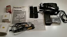 Panasonic VHS-C Video Camera NV-S20E with bag and battery packs. Tested working!