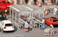 Faller 180606 H0 Moderner Einkaufswagen Unterstand, Bausatz, Neu