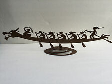 Dragon Boat - table top metal statue - new, unique, all women, trophy, award
