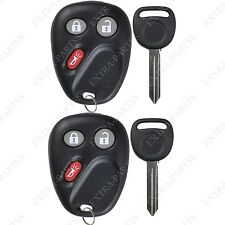 2 New LHJ011 Replacement Keyless Entry Remote Fob Transmitter + 2 Ignition Keys