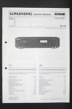 GRUNDIG CD 103 Original CD Player Service-Manual/Schaltplan/Diagram o85