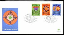 Dutch Antilles - 1974 Child welfare / Music Mi. 289-91 clean unaddressed FDC