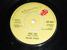 Rolling Stones: Miss You / Faraway Eyes 45 - UK