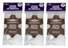 3 Pack of Gliptone Leather Scented Car Hanging Air Freshener Fragrance Scent