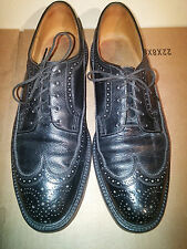 Florsheim Imperial Wingtip Black Pebbled Leather V Cleat Oxford Men's Size 9.5C