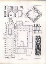 Gothic Halberstadt Plan Of Church And Cloisters Building Attached