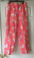 Women's Vintage Lilly Pulitzer The Lilly Pants Trousers Pink Style 244 Size 10