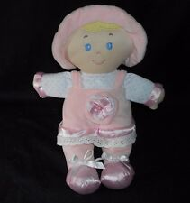 "12"" KIDS PREFERRED 2013 BABY GIRL PINK DOLL RATTLE STUFFED ANIMAL PLUSH TOY SOFT"