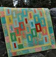 QUILT PATTERN baby and lap size, Layer Cake or Fat Quarter, Simple Quick Easy
