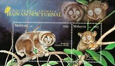 Nocturnal Animals Malaysia 2008 Wildlife (ms) MNH *Glow In Dark *unusual