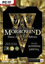 THE ELDER SCROLLS III 3 MORROWIND GAME OF THE YEAR EDITION PC *NEW & SEALED*