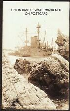 REAL PHOTO POSTCARD ROYAL NAVY BATTLESHIP HMS MONTAGU WRECKED LUNDY ISLAND 1906