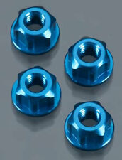 J Concepts 2089 Locking Wheel Nut 4mm TRA/SC10/4x4 Blue (4)