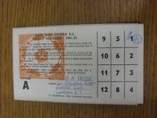 1981/1982 West Ham United: Ticket Voucher Card, Completed By Fan, Stamped Once (