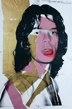 "ANDY WARHOL "" MICK JAGGER 1975 "" ROLLING STONES ORIGINAL POSTER PLATE SIGNED"
