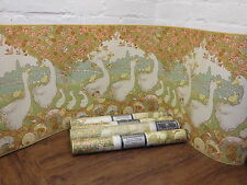"4 ROLLS OF VINTAGE SANDERSON WALLPAPER ""TAKE A GANDER"" Nursery / childs bedroom"