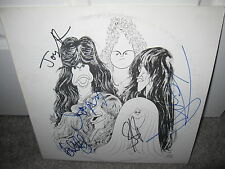 AEROSMITH SIGNED DRAW THE LINE AUTOGRAPH ALBUM RECORD TYLER PERRY IDOL X5 PROOF