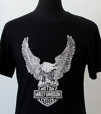 vintage 80s HARLEY DAVIDSON soft thin T SHIRT medium BIKER rocker