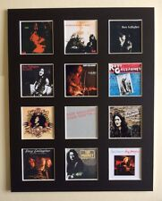 "RORY GALLAGHER 14"" BY 11"" LP DISCOGRAPHY COVERS PICTURE MOUNTED READY TO FRAME"