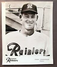 1960 JERRY ZIMMERMAN Seattle Rainiers Popcorn Card premium 8x10 PCL baseball