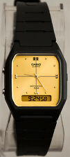 Casio AW-48HE-9AV Ana Digital Watch Gold 50M WR Alarm Stopwatch Classic New