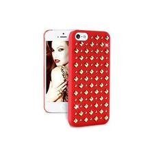 "CUSTODIA PURO IPC5ROCK2RED PER IPHONE 5/5S  ""ROCK"" RED CASE WITH STUDS BORCHIE"