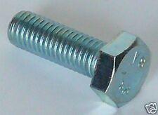 2 x Vite Testa Esagonale M10, 10MA x 35 UNI 5739 DIN 933 acciaio Zincato Bianco