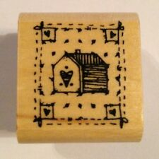 House and Home Stamp Love Heart Valentine DJ Inkers Rubber Stamp B43