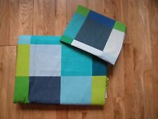 NEXT BLUE GREEN PIXEL CHECK  BOYS SINGLE SIZE DUVET BEDSET BRIGHTS GOES CURTAINS