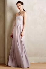 Anthropologie Erin Fetherston Syringa Ombre Maxi Gown Purple Lilac Sz 12