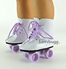 "Lavender Roller Skates for 18"" American Girl Doll Shoes Clothes Best Selection!"
