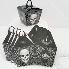 Pack Of 6 HALLOWEEN Trick Or Treat pumpkin Sweet Candy Bags LOOT PARTY