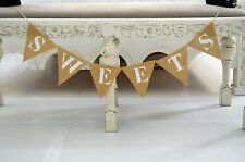 Caramelle JUTA Bunting Baby Shower decorazioni wedding OMAGGI SPOSA Burlap