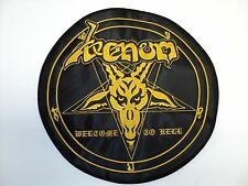 VENOM  WELCOME  TO HELL  YELLOW     EMBROIDERED BACK PATCH