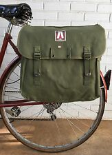 "Musette Bag Military Surplus Style Messenger Bicycle Pannier Green 13""x14""x6"""