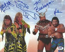 Shawn Michaels & Barbarian Marty Jannetty Haku Signed 8x10 Photo WWE PSA/DNA COA
