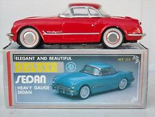 New Toy Corvette Deluxe Sedan Friction Drive Toy Car in Box