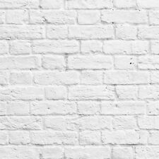 Muriva - 102539 - White / Grey  Painted White Washed Brick Effect Wallpaper