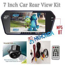 2 AV 7 Inch TFT LCD Screen MP5 SD USB Bluetooth Car Rear View Monitor Camera