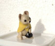 Hagen Renaker POOR MOUSE yellow cape miniature ceramic figurine listing others..