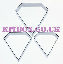 KIT di-DIAMOND Sugarcraft Cutters 3 Set-ACCIAIO INOX CUTTERS