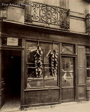 Eugene Atget photo, Cobblers Shop, Paris 1910-1920