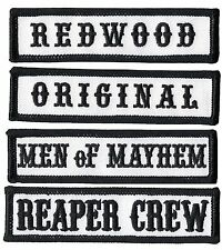 Reaper Crew Outlaw Anarchy Biker Vest Jacket Officer Title 4pc Patch Set