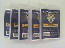 SafTgard Vintage Card Protector Sleeves Packages of 100 Lot of 5 No PVC New NIP