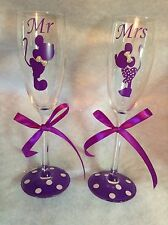 Mr and Mrs Champagne Flute- Disney Wedding, Perfect Gift For Bride And Groom