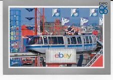EXPO 86 VANCOUVER WORLD'S FAIR OFFICIAL POSTCARD LOGO MONORAIL