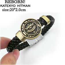 Anime Katekyo Hitman REBORN Vongola Logo Bracelet Weave Band Bangle Cosplay Gift