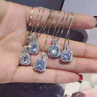 New 925 sterling Silver plated CZ Bead Pendant Chain Necklace Charm Jewelry