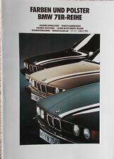 BMW 7er E32 730i - 735i - 735iL - Farben/Polster 2/90